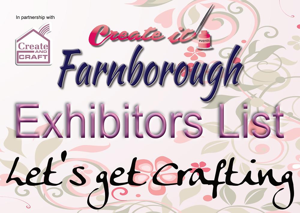 Create it Farnborough up to date Exhibitor List