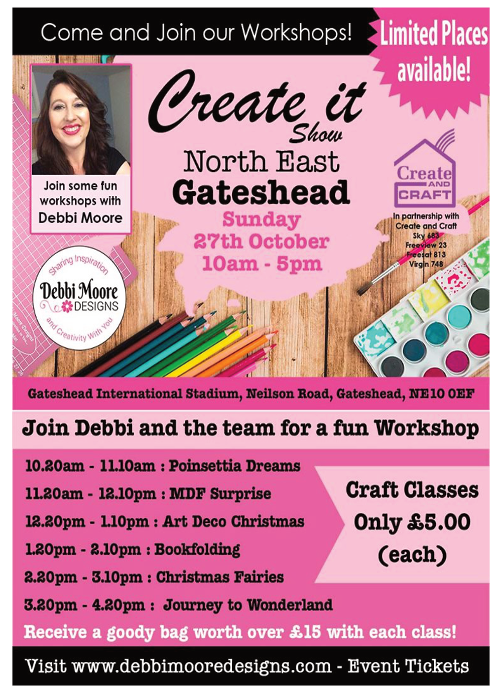 Debbi Moore Designs Workshop at Create it North East - Gateshead Craft Show