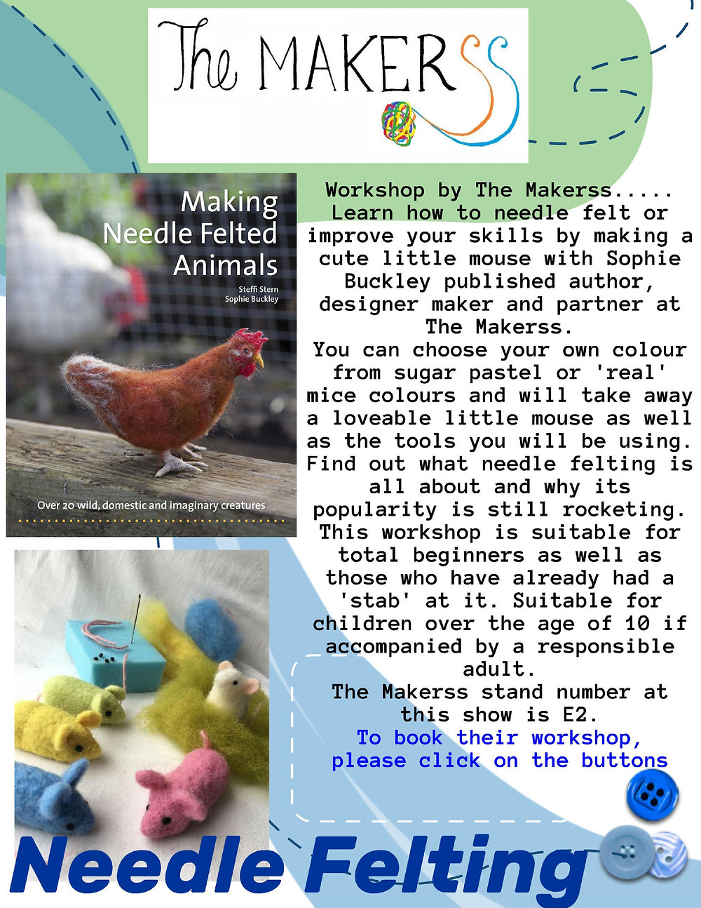 The Makerss Needle Felting Workshop at Create it Telford