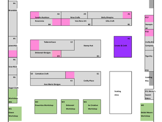 Event Layout for Create it North East - Gateshead Craft Show