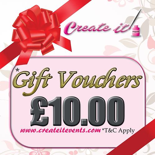 Create it Gift Vouchers