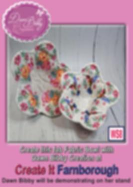 Dawn promo - Fabric Bowl Create it Farnb
