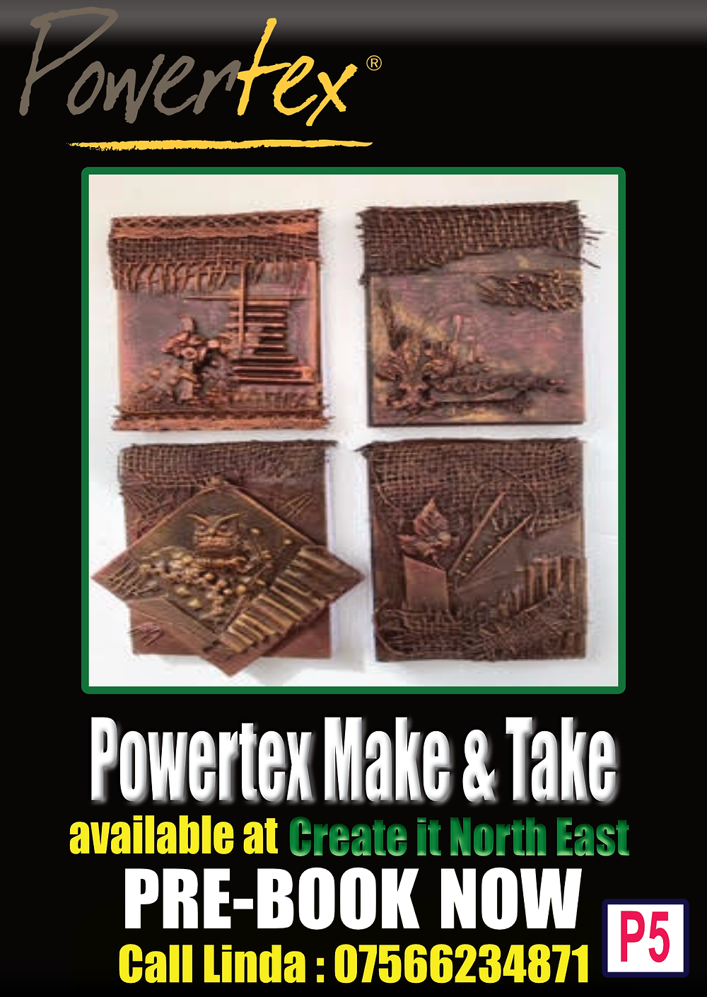 Powertex Make and Take at Create it North East - Gateshead Craft Show