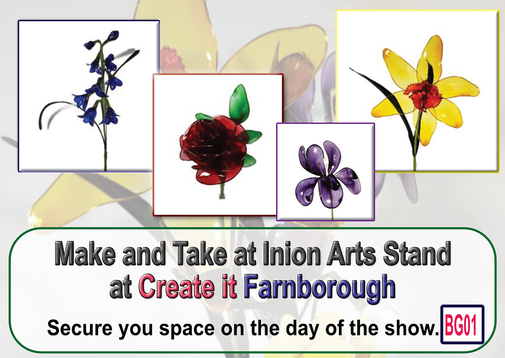 Stained Glass Effect Resin Flowers Make and Take at Create it Farnborough