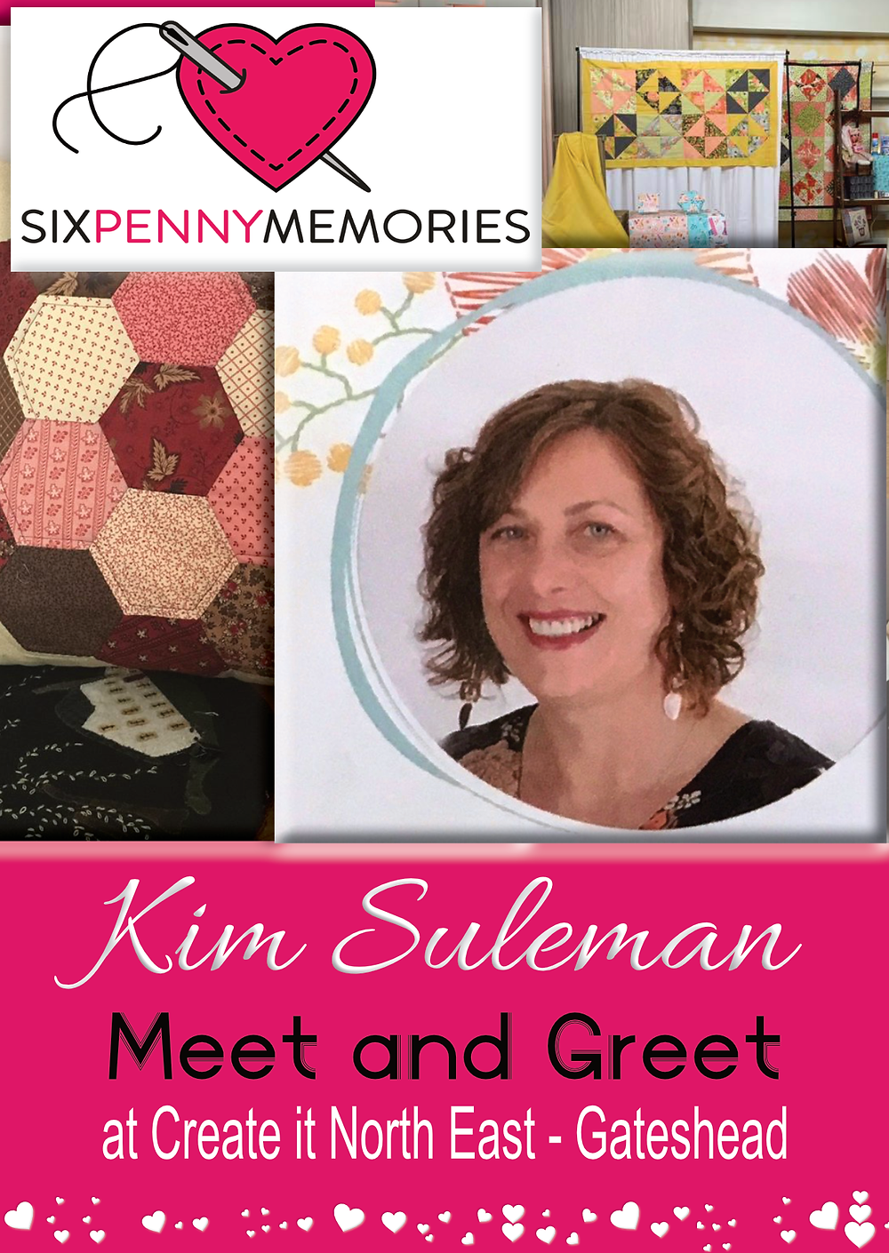 kim Suleman from Six Penny Memories at Create it North East
