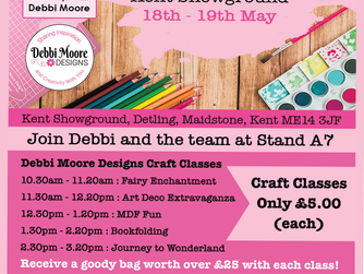 Debbi Moore Designs Workshop at Create it Kent