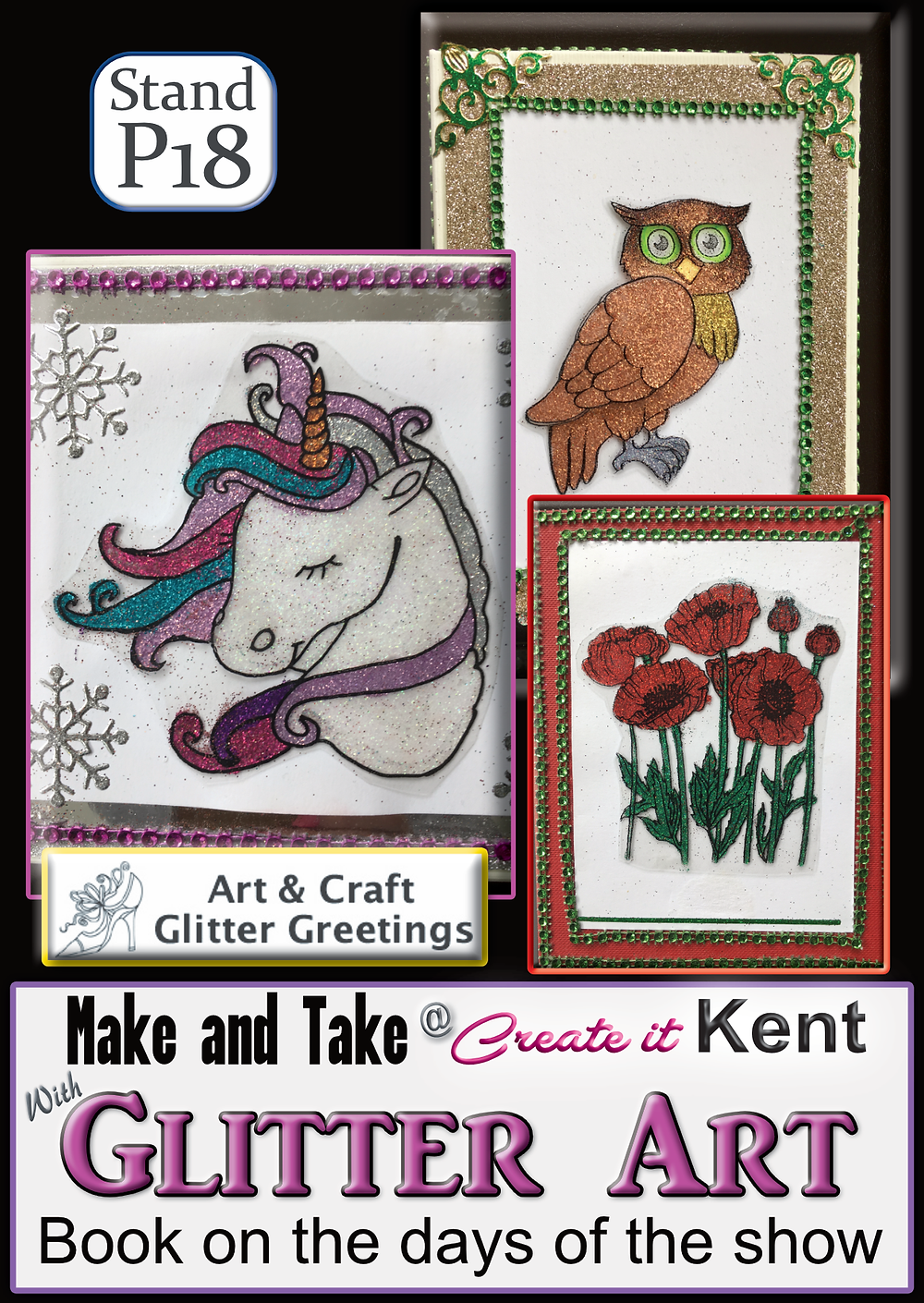 Art and Craft Glitter Greetings at Create it Kent