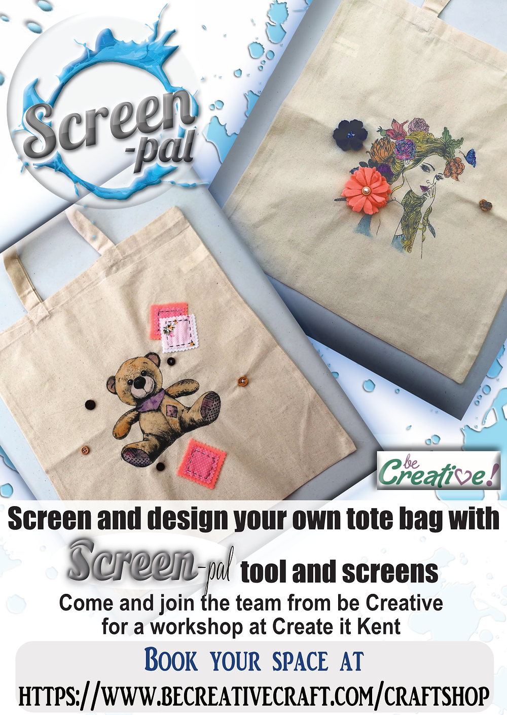 Screen Print tote bag with Screen-pal