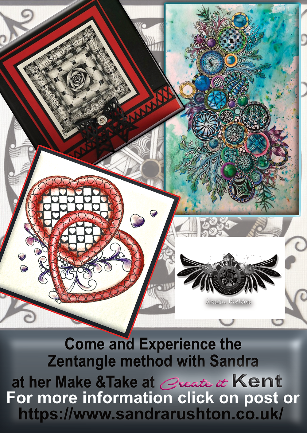 Zentangle with Sandra Rushton at Create it Kent