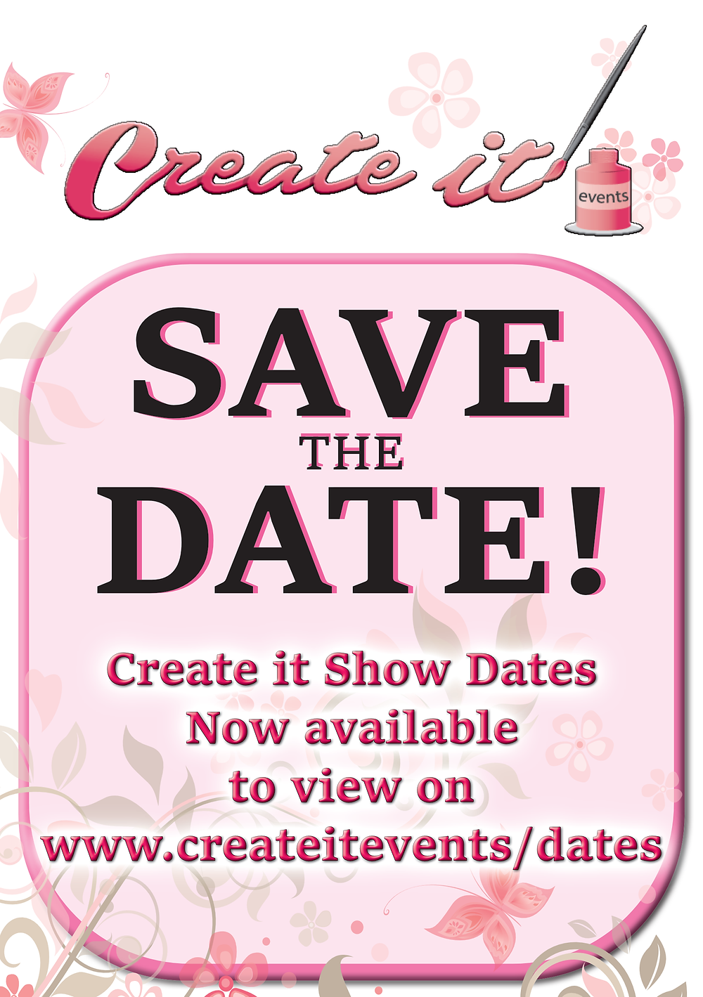 Create it Event Craft Show - Save the Date