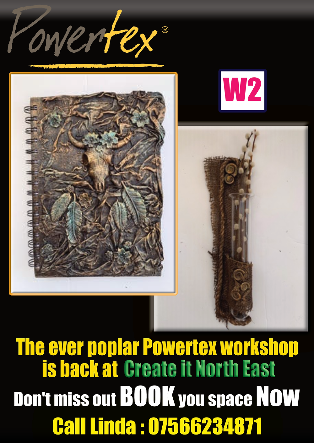 Powertex Workshop at Create it North East -Gateshead Craft Show