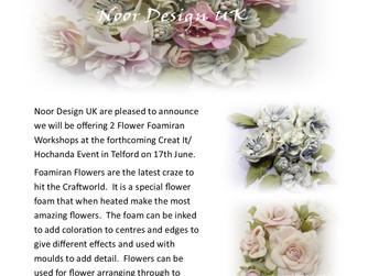 Foamiran Workshops - Creating Fabulous Flowers