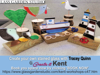 Stained Glass projects with Glass Garden Studio