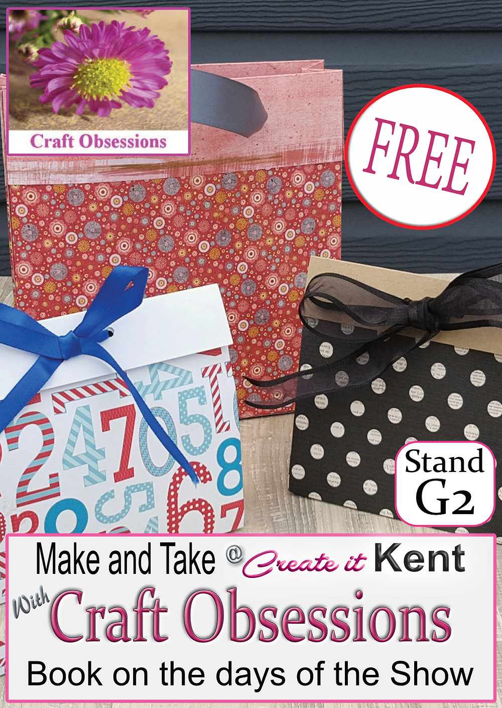 Craft Obsessions make and take at Create it Kent