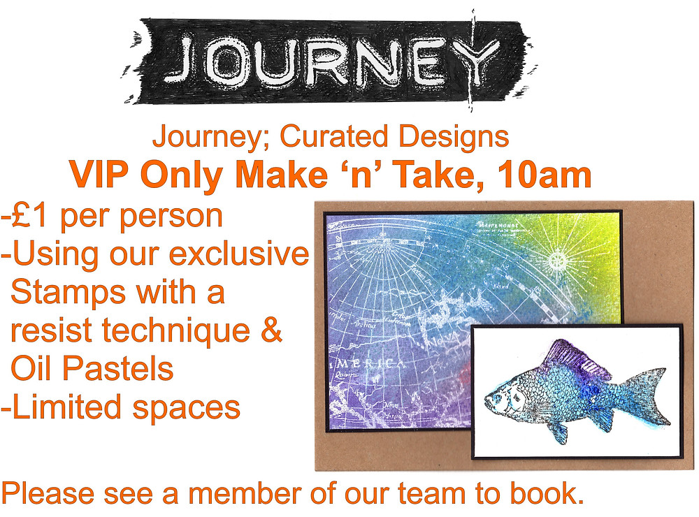 VIP Make and take with Journey curated designs at Create it Kent