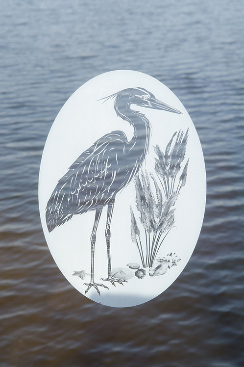 Heron & Seashells right facing