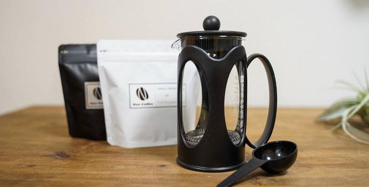 フレンチプレスとコーヒー豆200gセット