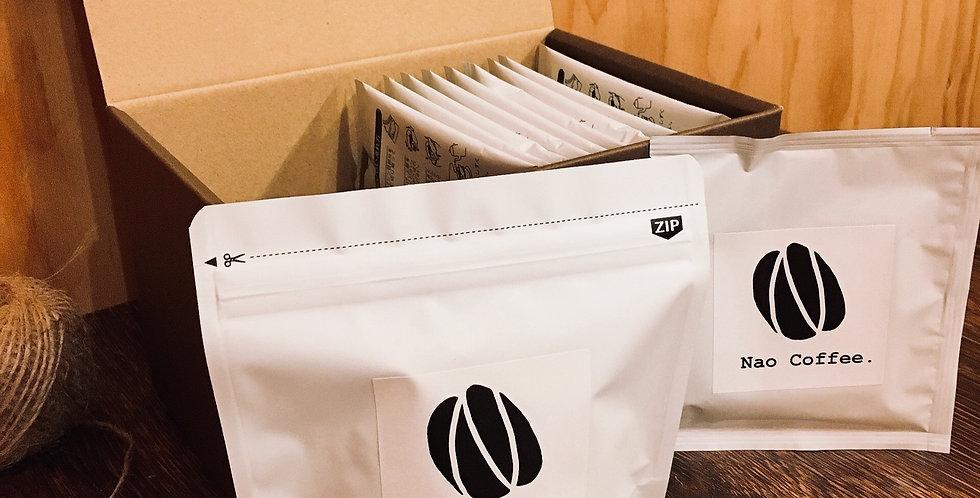 コーヒー豆100gとドリップバッグ10個のギフト