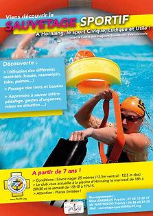 Affiche Sauvetage Sportif Nautique Horna
