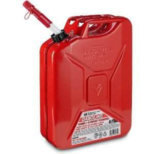 Metal gas can