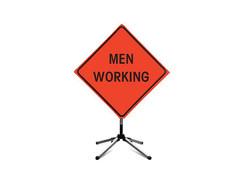 Men at work road sign