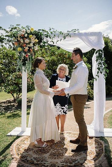 White Two Post Wedding Arbour