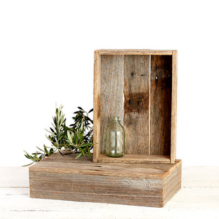 rustic timber boxes