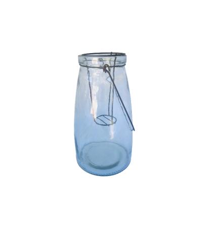 Large Glass Jar Lantern