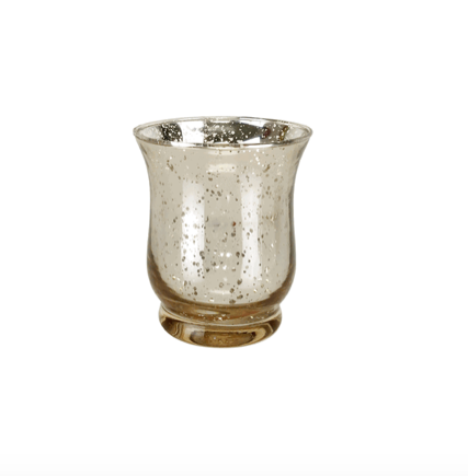 Silver Speckle Glass Votive