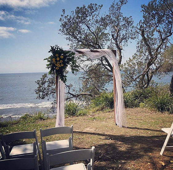 Timber Two Post Wedding Arbour