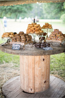 wire reel rustic event hire