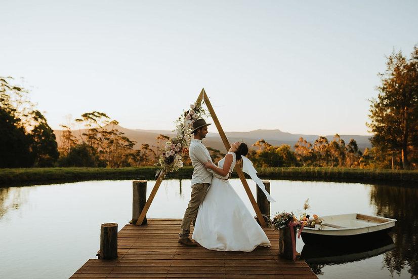 Timber Triangle Wedding Arbour