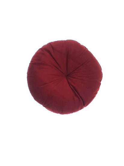 Burgundy Round Cushion