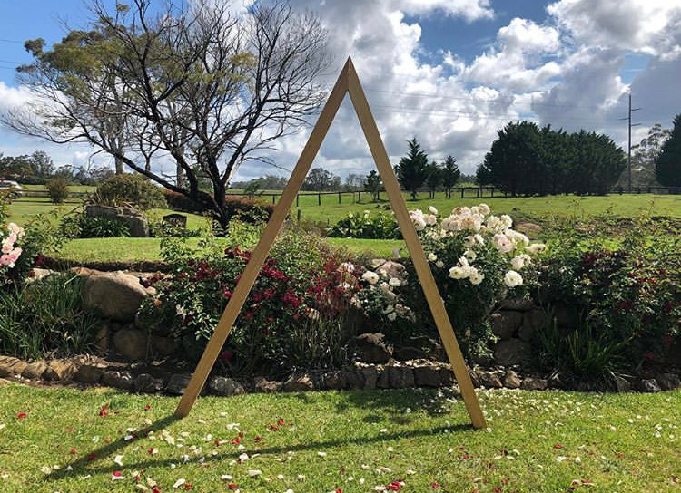 Timber Triangle Wedding Arbour