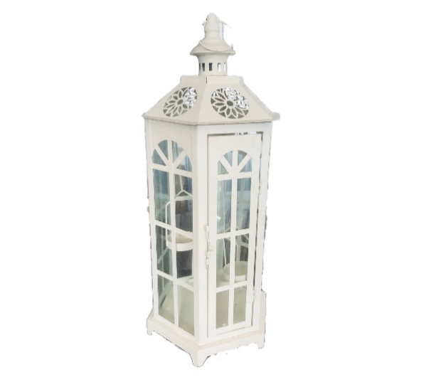 Cream Coastal 3 Tier Lantern