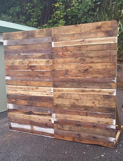 Rustic Timber Slat Wall Backdrop