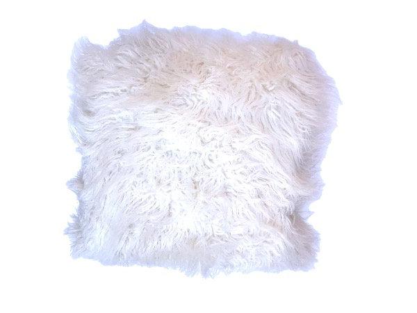 Fluffy White Cushion