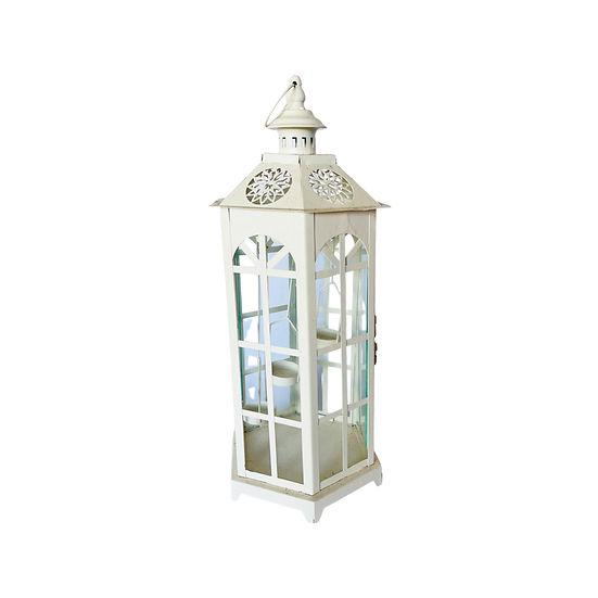 Cream Tier Tea Light Lantern