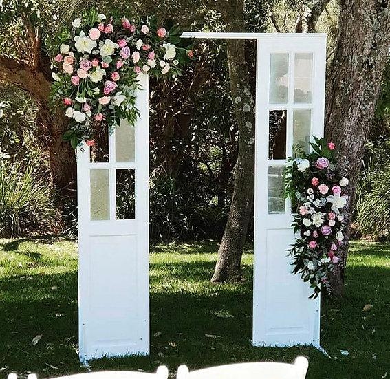 White French Door Wedding Arbour
