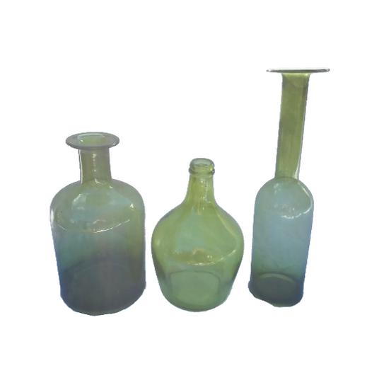 Giant Green Bottle Vase Set
