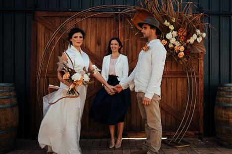round arch wedding arbour
