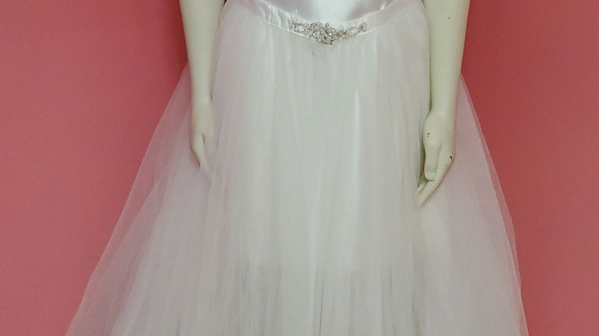 Reception white dress with skirt option