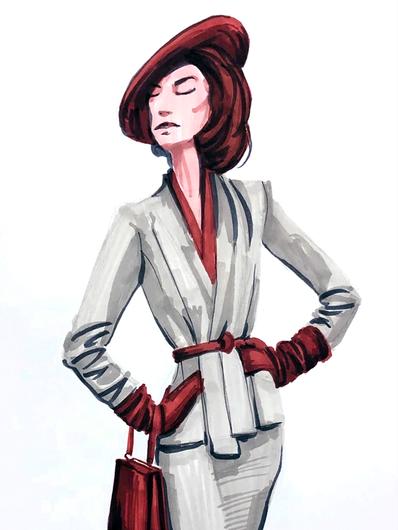 Grey Suit - Fashion Sketch