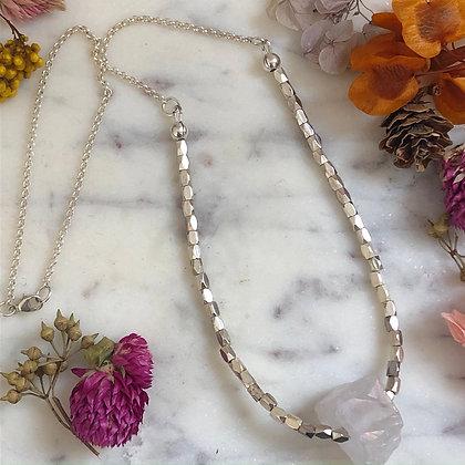 Single Clear Quartz Necklace