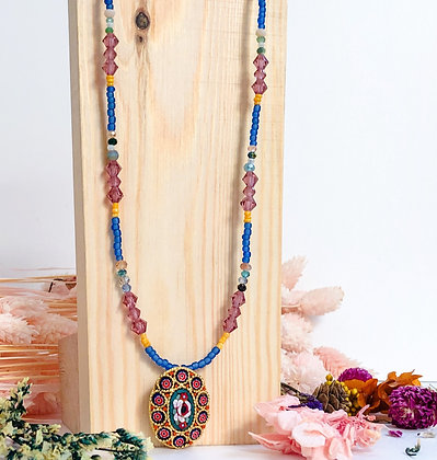Colourful vintage necklace