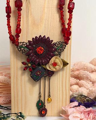 Red vintage necklace
