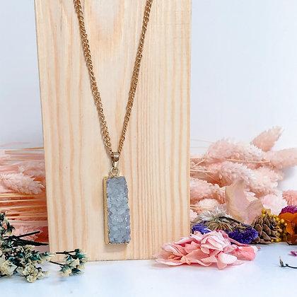 Grey Druzy necklace