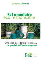 Plaquette Fut Annulaire PLASTIQUES DELVALLEE Emballage Eco responsable Bio