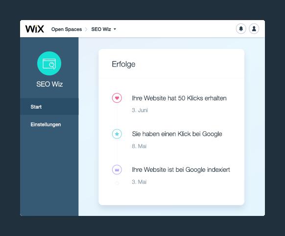 Einblicke in Ihren SEO Plan mit Wix SEO Wiz