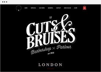 Plantilla de una página web de un barbería